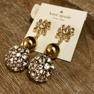 "Kate Spade ""Diamond"" & Gold Earrings"
